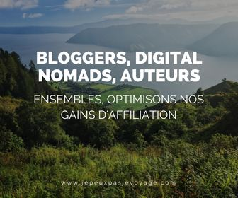 BLOGGERS, DIGITAL NOMAD, AUTEURS - ENSEMBLE OPTIMISONS NOS GAINS D'AFFILIATION